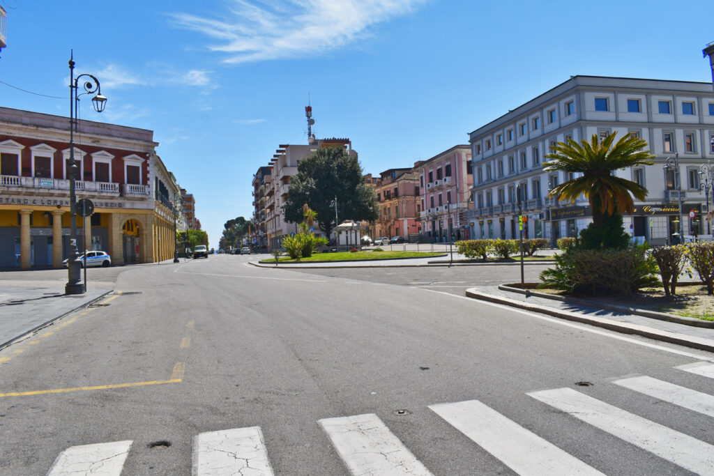 Piazza Pitagora – Panoramica (Foto Redazione – Aprile 2020)